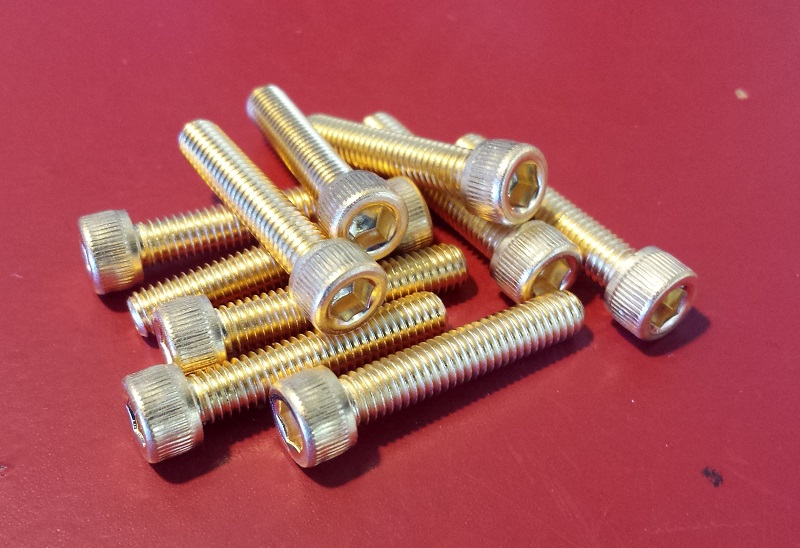 Mark II Gold Plated Screws